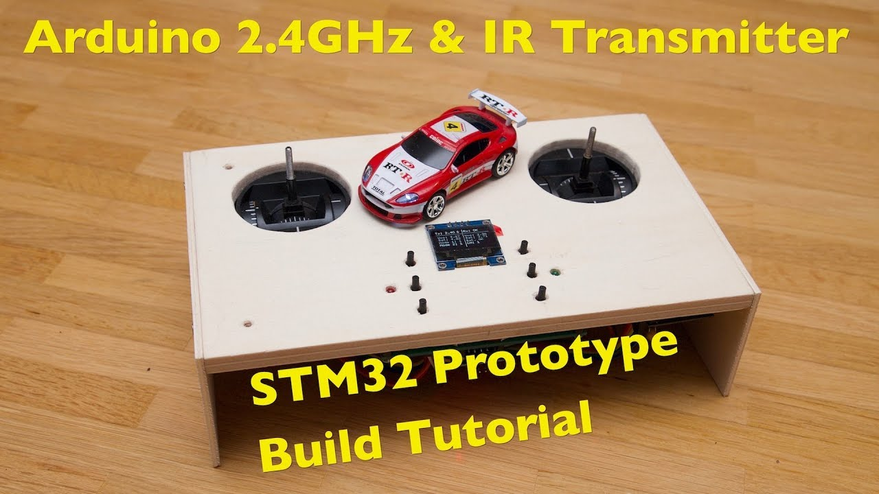 Stm32 Arduino 24ghz Ir Test Transmitter Build Tutorial Tiny Rc Cars And Charger Circuit 2 X Aa Cell 27mhz