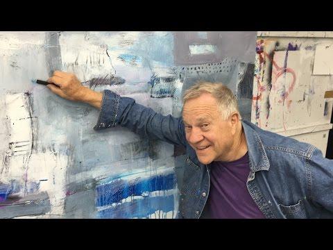 "BobBlast 95 ""Drawing Back onto an Acrylic Painting"""