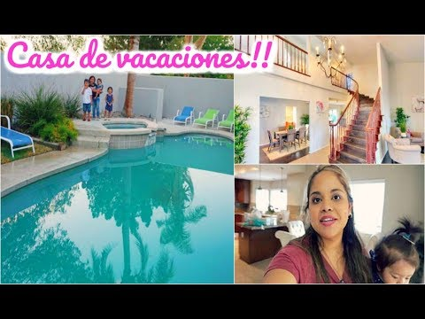 NUESTRA CASA DE VACACIONES!! LLEGAMOS A PALM SPRINGS!! DIA #1 #VLOGS DIARIOS #081
