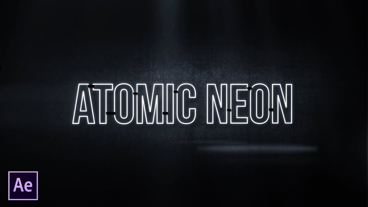 Neon Glow Text or Logo | After Effects Motion Graphics