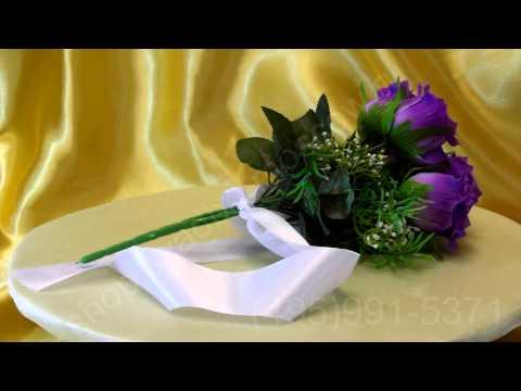 Фиолетовый свадебный букет невесты План Свадьбы ру