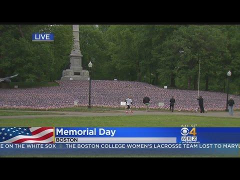 37,000 US Flags Honor Massachusetts Fallen On Boston Common