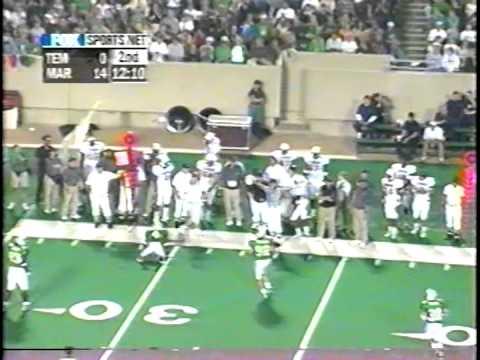 Temple Football at  Marshall 1999 First Half