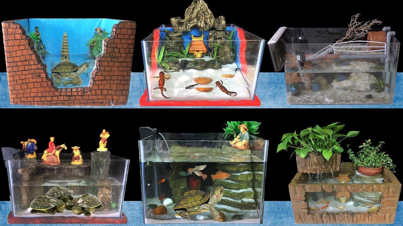 Top 7 Diy Turtle Aquarium Fish Tank Home Decoration Ideas Youtube