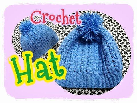Crochet Hat Tutorial/Hat/baby hats:ถักหมวกไหมพรม ง่ายๆ #3