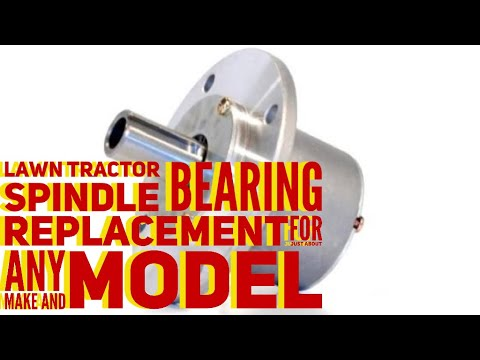 BLADE SPINDLE BEARING REPLACEMENT PROCEDURE ON JUST ABOUT ANY WALK / RIDING  MOWER OR ZERO TURN