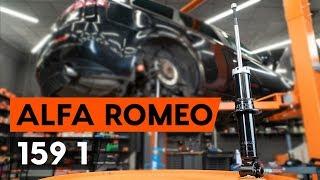 Kuinka vaihtaa takaiskunvaimentimet ALFA ROMEO 159 1 (939) -merkkiseen autoon [AUTODOC -OHJEVIDEO]