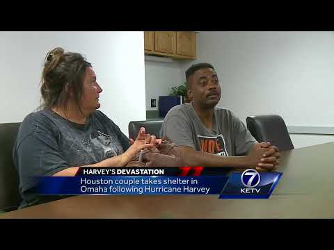 Houston couple takes shelter in Omaha following Hurricane Harvey