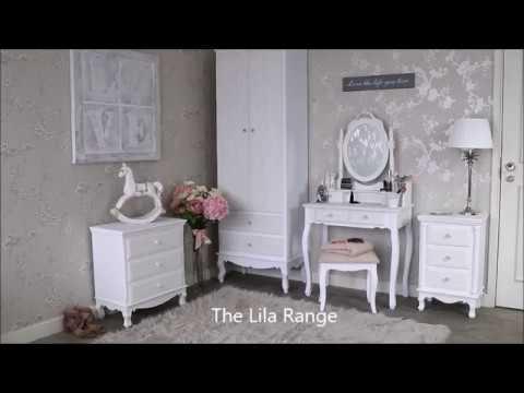 The Lila Range White Bedroom Furniture Sets Girly Feminine Floral Furniture