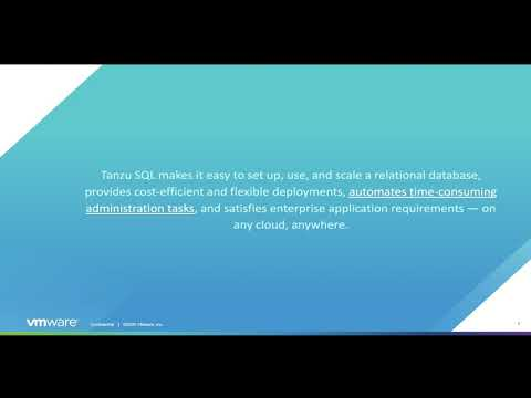 Tanzu Data Services PostgreSQL and MySQL on Kubernetes I VMware Tanzu