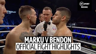 Florian Marku vs Nathan Bendon full fight | The popular Albanian puts on a show at Ultimate Boxxer