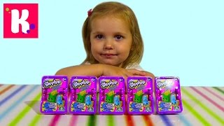 Шопкинс корзинки с игрушками/ распаковка
