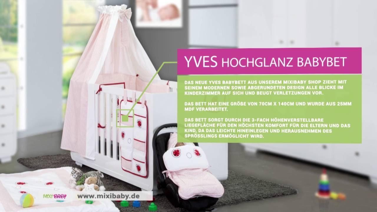 Hochglanz Kinderzimmer Yves mit 3 türigem Kleiderschrank + gr ...