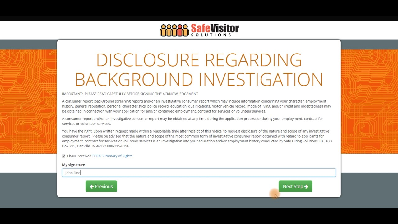How to Complete A Background Check Request through ...