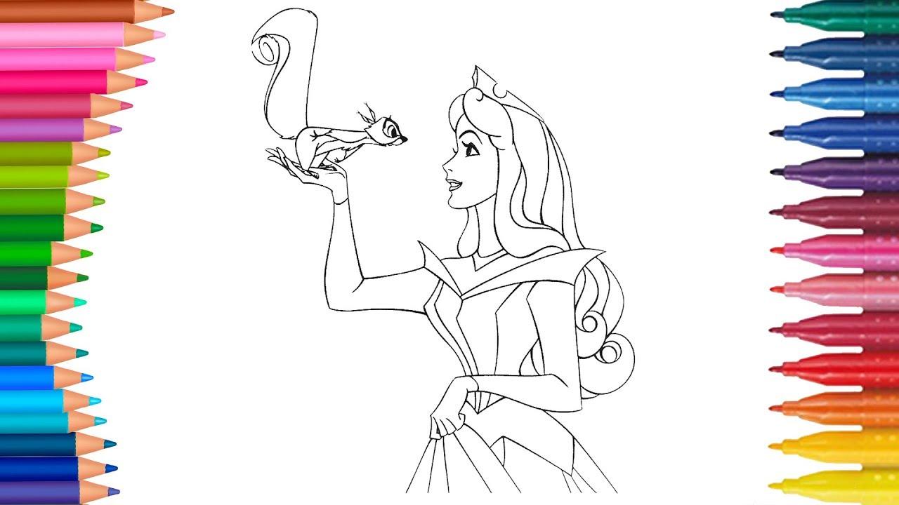 Dibujar Y Colorea Princesa La Bella Durmiente Dibujos Para Niños