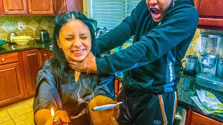S.M.O.K.I.N.G WHILE PREGNANT PRANK ON ARMON**EPIC**