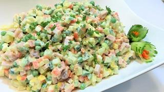 """Салат """"ОЛИВЬЕ 1001 рецепт"""" НОВОГОДНИЙ ХИТ, Безумно Вкусный.  Salad."""