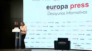 Nadia Calviño participa en un Desayuno Informativo de Europa Press