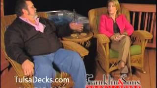 Tulsa decks: Franklin and Sons custom decks project design testimonial