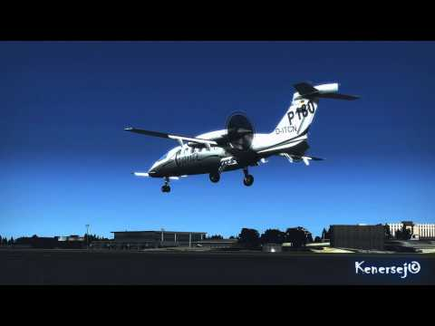 Piaggio P180 Avanti II landing at Luxembourg
