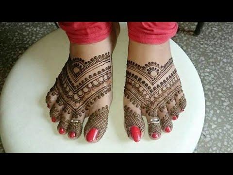 Learn Simple Pakistani  Leg Henna Design ! Unique Mehndi Design ! Tutorial ! 2018 (Monika) #01 thumbnail