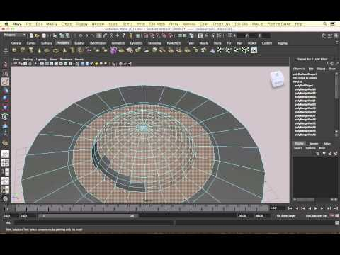 Maya - Modelling a UFO [1] Craft Shape