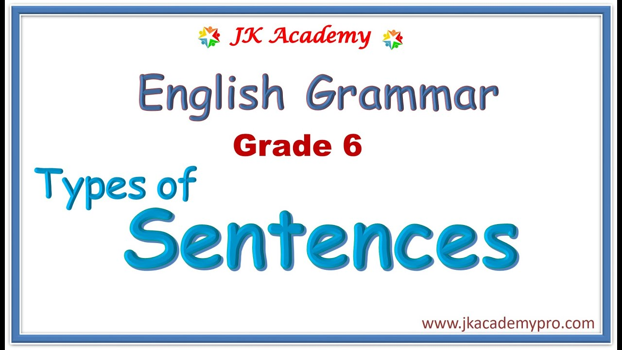 medium resolution of types of sentences grade 6   what is a sentence grade 6   types of sentences  class 6   sentences - YouTube