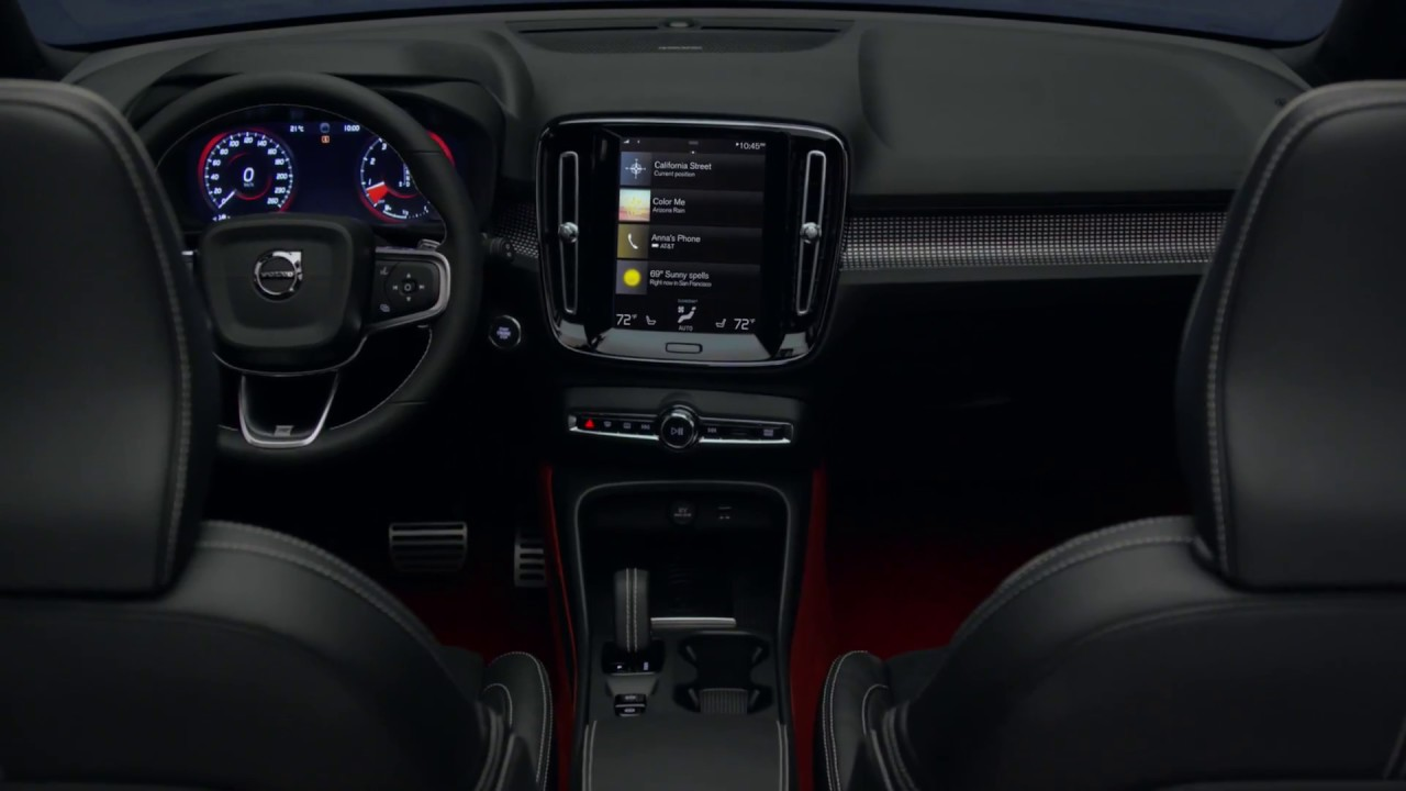 Volvo xc40 interieur youtube for Interieur xc40