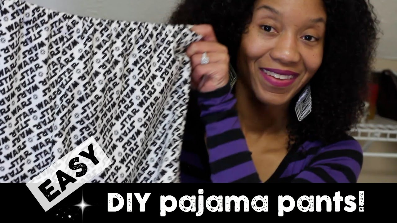 easy Pajama Pants VERY DETAILED! great for beginners -- 2 piece pattern