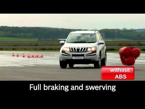 EN | Mahindra XUV500 safe braking with Bosch antilock braking system (ABS)