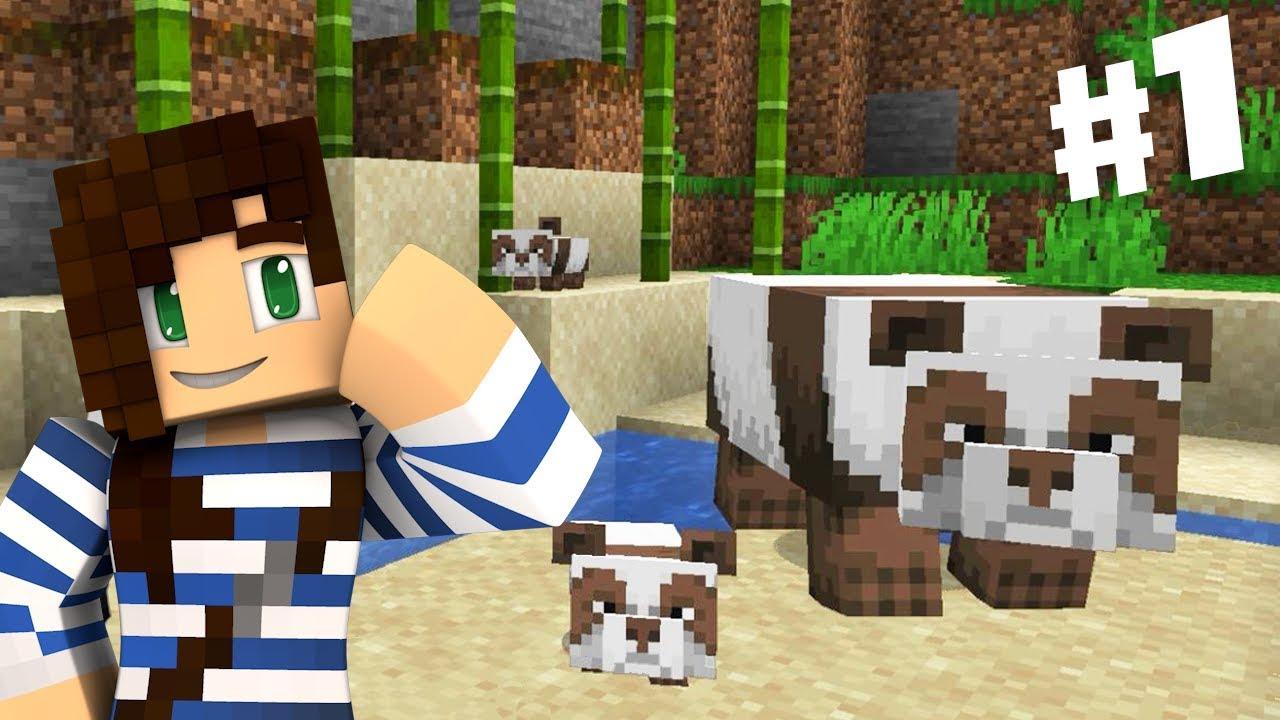 Lucky Panda Spawn! | New Minecraft Series Ep 1