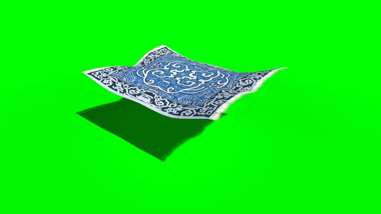 Green Screen Flying Carpet Different Shots Footage