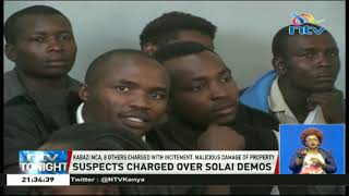 Kabazi MCA, 8 others charged with incitement of Solai demos
