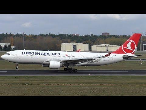 Turkish Airlines Airbus A330-223 TC-JIT Takeoff at Berlin Tegel Airport
