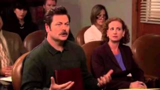 Ron Swanson Educates A Young Individual On Government