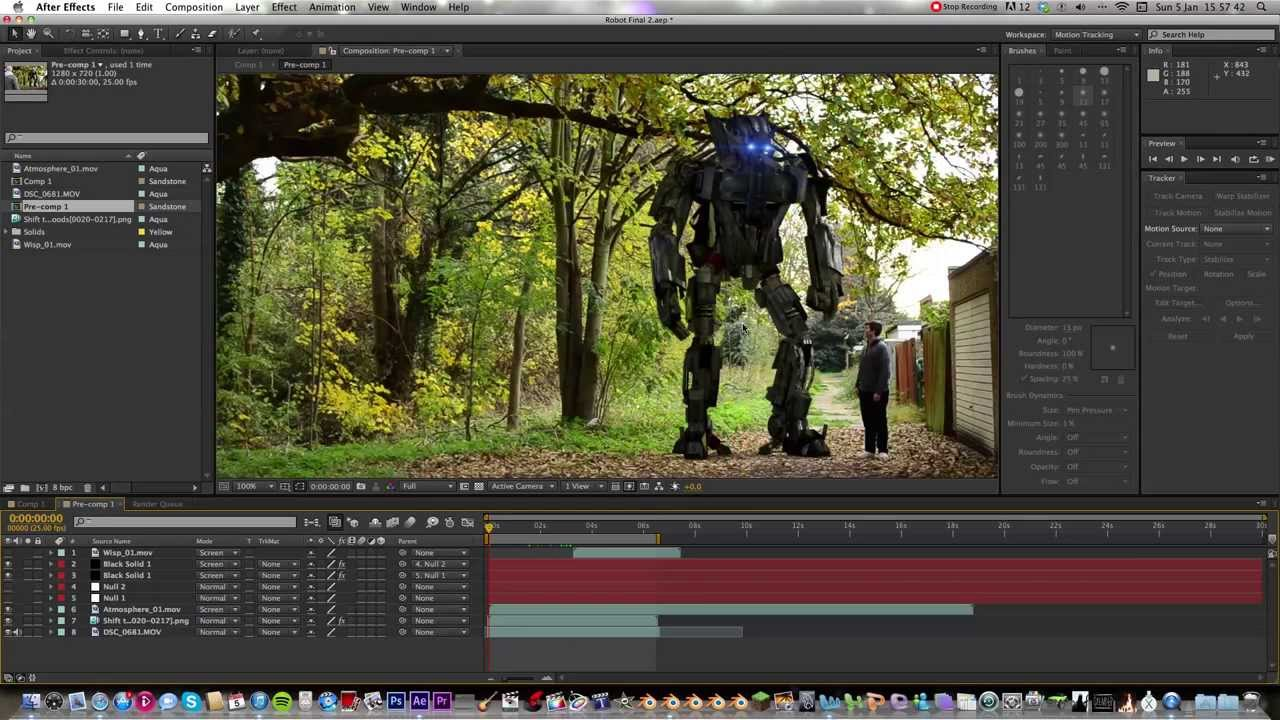 How to cgi robot blender to after effects youtube for Habitacion 3d after effects