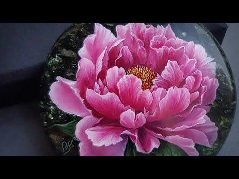 Как нарисовать миниатюру на камне - художник ювелирной живописи Ольга Князева