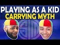 DAEQUAN PLAYS AS A KID AND CARRIES MYTH - (Fortnite Battle Royale)