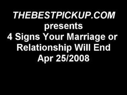 signs that your relationship is ending