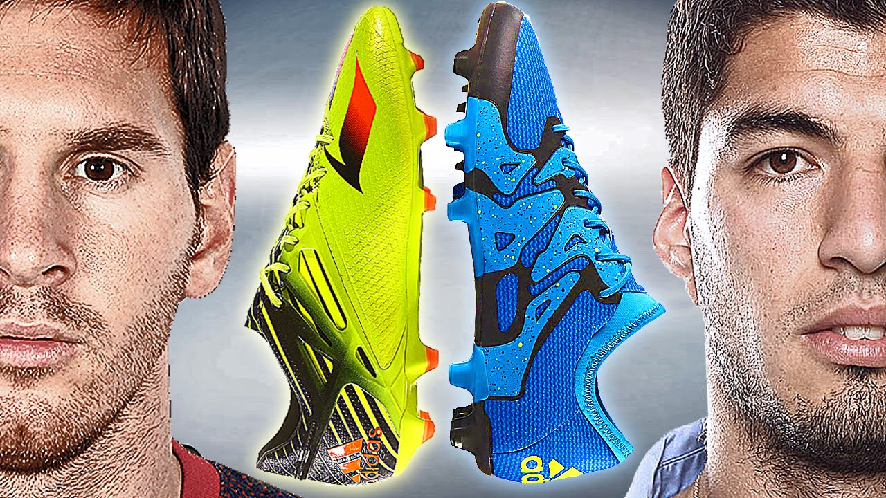 Messi VS Suarez - Battle: adidas Messi15 vs. X15 - Test & Review - YouTube