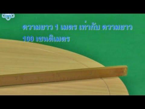 การวัดความยาวเป็นเมตร คณิตศาสตร์ ป.2