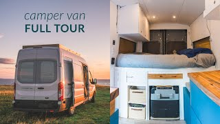 my Dream Van Conversion - Ford Transit - DIY CAMPER - Tiny House - The First Tour - SiddHallford