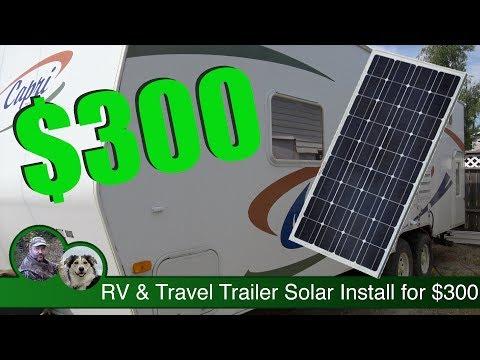 RV & Travel Trailer Solar Install for $300