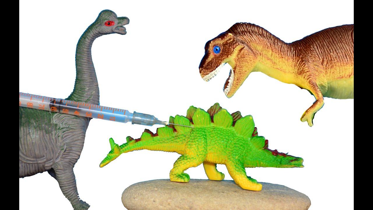 Видео про динозавры игрушки