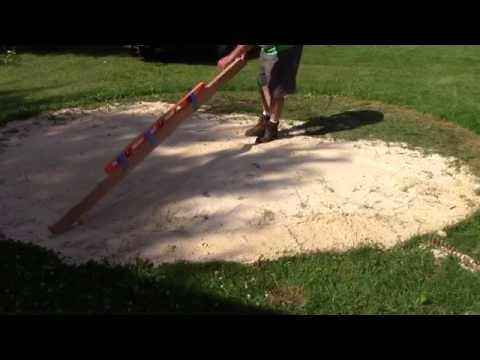 Leveling the swimming pool