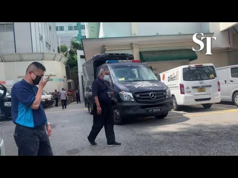 Tanjong Pagar Car Crash: Second Police Hearse Arrives At SGH Mortuary