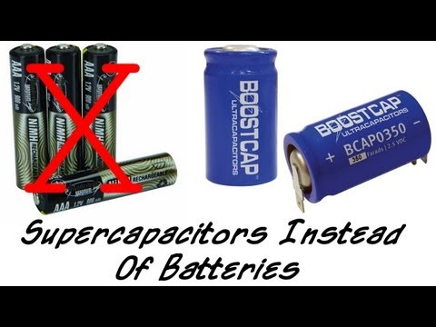 Supercapacitors Instead Of Rechargeable Batteries