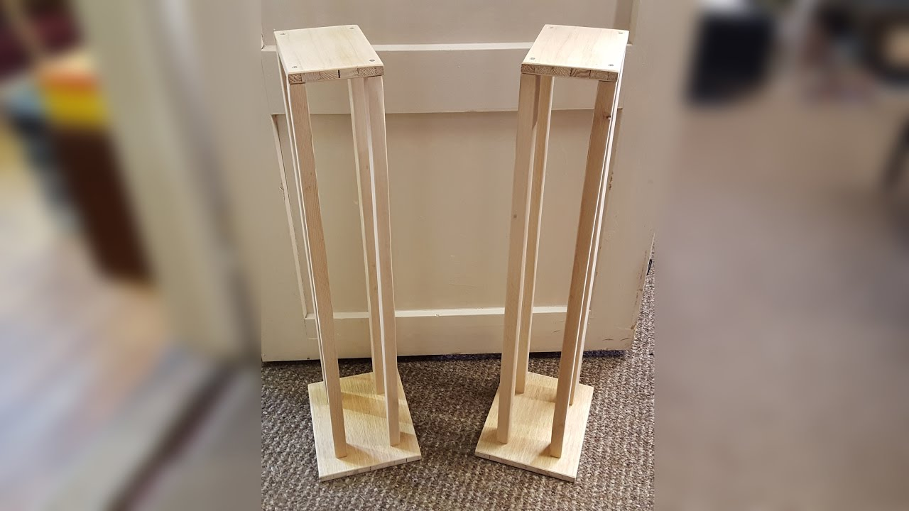 Building Speaker Stands From Scrap Wood
