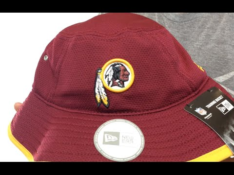 2702e3cb2c8 Redskins  2014 NFL TRAINING BUCKET  Burgundy Hat by New Era - YouTube