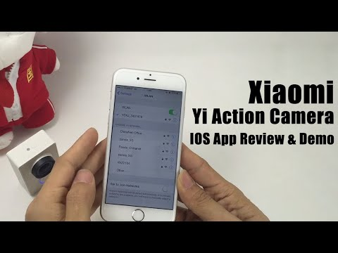 Xiaomi Yi Action Camera IOS App Review & Demo